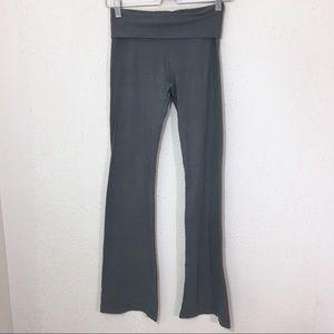 Hard Tail Fold Over Wide Leg Yoga Pants Sage Green